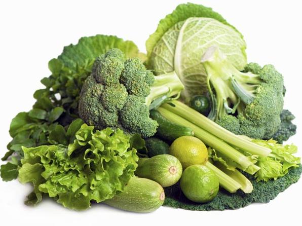 Haufen grünes Gemüse