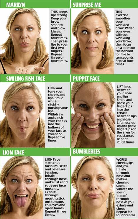 Gesichtsyoga Yotox Übungen