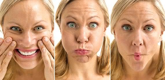 Gesichtsfitnessübungen